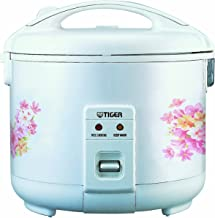 Tiger JNP-1500-FL 8-Cup (Uncooked) Rice Cooker and Warmer, Floral White