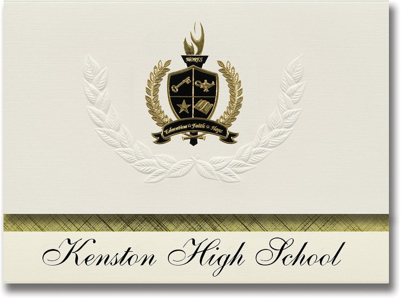 Signature Ankündigungen kenston High School (Bedauern fällt, oh) Graduation Ankündigungen, Presidential Stil, Elite Paket 25 Stück mit Gold & Schwarz Metallic Folie Dichtung B078VC8BPW   | Räumungsverkauf