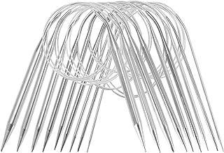 ZITFRI Lot de 9 aiguilles à tricoter circulaires en acier inoxydable - 80 cm - 9 tailles : 2,5/3,5/4,5/5,5/6/7/8/9/10 mm