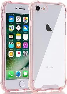 Egotude India Shock Proof Hard Back Soft Bumper Cover for iPhone 7/8 (Rose Gold)