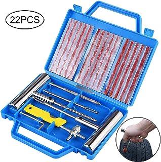 Fabur Kit de Reparación de Neumáticos, Kit Repara Pinchazos Pequeño Herramienta de Reparación de Pinchazos para Neumaticos