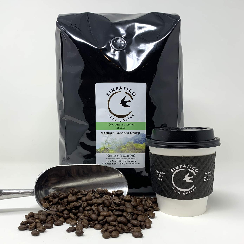 Simpatico New life Low Acid Coffee - DECAF Max 57% OFF WHOLE 5 Medium BEAN pound
