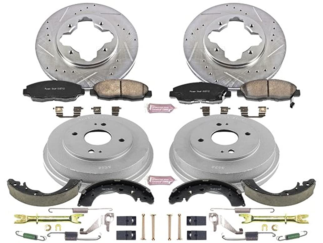 Power Stop Front & Rear K15105DK Performance Pad, Rotor, Drum and Shoe Kits