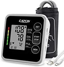 Blood Pressure Monitor Cuff Upper Arm Home Use BP Cuff Kit Blood Pressure Machine Pulse Rate Monitoring Meter 2x120 Memory...