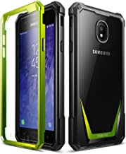 Galaxy J3 2018 Rugged Case, Poetic Guardian Heavy Duty Case with [Built-in-Screen Protector] for Samsung Galaxy J3 2018/J3 Star/J3 Orbit/J3 V 3rd Gen/J3 Achieve/Express Prime 3/Amp Prime 3 - Green