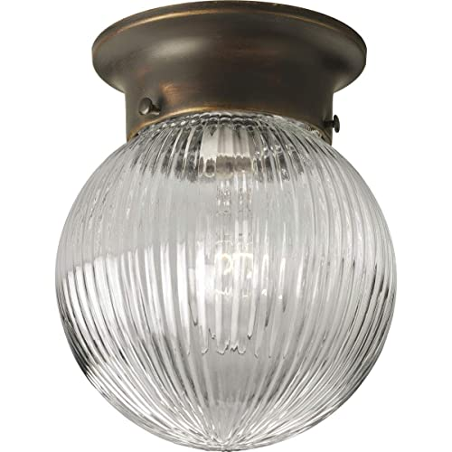 Antique Brass Finish with Frosted Ruffled Edge Glass Westinghouse 6668600 Three-Light Flush-Mount Interior Ceiling Fixture