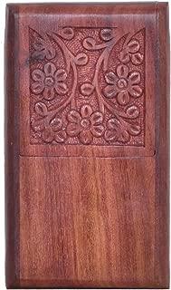 WILLART Handmade Wooden Pocket Cigarette Case Holder