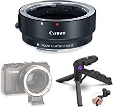 Canon EF-M Lens Adapter Kit for Canon EF/EF-S Lenses for Canon EOS M100, M10, M50, M6, M5 Mirrorless Cameras with Steady Grip Multiangle Tripod