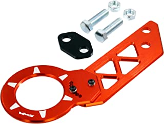 ORANGE REAR ADJUSTABLE T6061 CNC Billet Anodized Aluminum Towing TOW HOOK for Honda Del Sol 93 94 95 96 97 98 1993 1994 1995 1996 1997 1998 (Brand New – Totally REDESIGNED) JDM