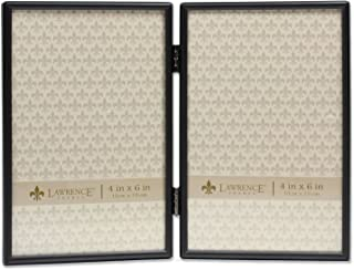 Lawrence Frames 4x6 Hinged Double Simply Black Picture Frame