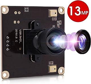13 Megapixel USB Camera No Distortion Fixed Focus Webcam for Industrial HD 13 MP USB Webcamera MJPEG 15fps 3840x2880 Sony IMX214 Sensor USB with Camera for Computer PC Laptop Desktop,Support Most OS