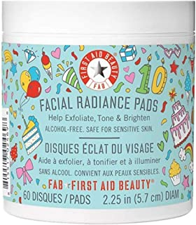 First Aid Beauty Facial Radiance Pads, Exfoliating Pads with AHA, 60 Count Birthday Edition