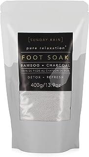 Sunday Rain Detox Foot Salt Soak, 13.9-Ounce, Charcoal & Bamboo