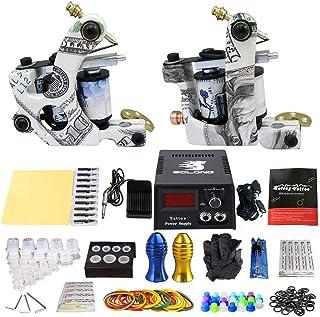 Professionele tattoo kit tattoo machine 2 stuks roterende spoel tattoo machine, voering en shader complete tattoo kits sta...