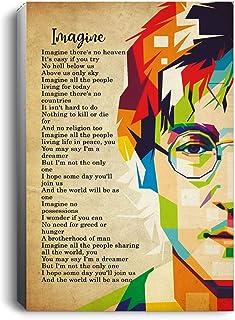 The Beatles John Lennon Imagine Lyrics Portrait No Framed (24 X 36)