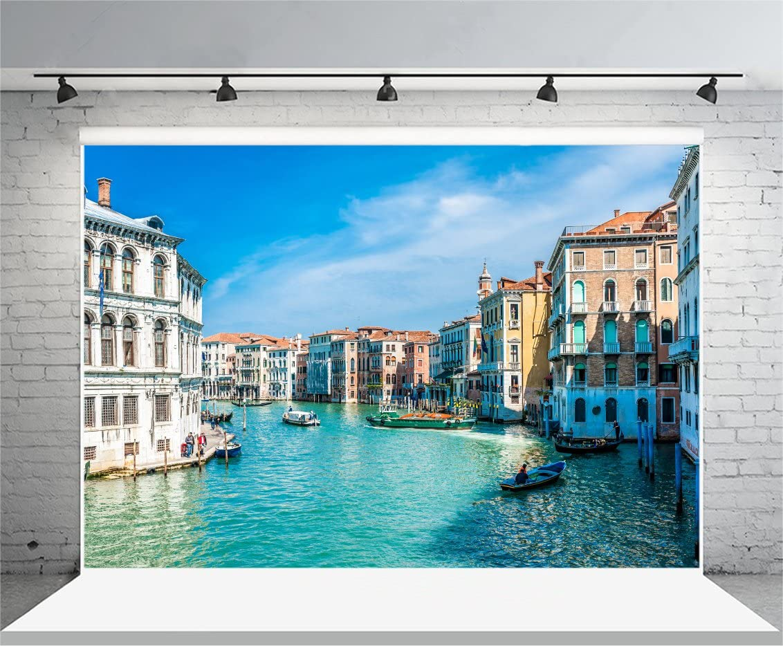 7x5ft Italy Town Backdrop Polyester Photography Background Colorful Flowers Oil Painting Picture Greece Retro Portraits Backdrops Studio Props Photo Stidio