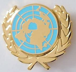 1000 Flags Limited United Nations UN Flag Emblem Enamel and Metal Pin Badge