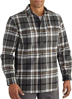 Carhartt Men`s 102216 Hubbard Classic Plaid Shirt - XX-Large - Carbon Heather