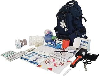 LINE2design کیت کمک های اولیه - EMS اضطراری اولین پاسخ دهنده نجات به طور کامل ذخیره شده لوازم پزشکی حرفه ای بزرگ کوله پشتی کیت تروما - EMT - Paramedic - نیروی دریایی آبی