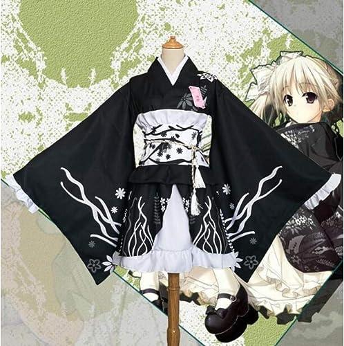 QAQBDBCKL Japanische Sü Yosuga Keine Sora Kasugano Sora Cosplay Kimono Lolita mädchen Kleider Cartoon Niedlichen Lolita Maid KleiderGröße