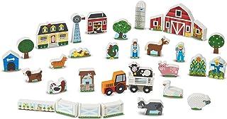 Melissa & Doug Wooden Farm and Tractor Play Set (33 pcs)