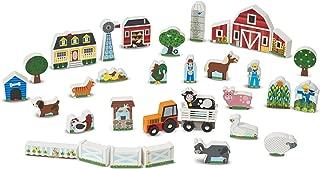 Melissa & Doug Wooden Farm & Tractor Play Set (33 pcs)