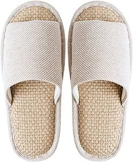 JERPOZ Zapatillas De Casa Zapatillas De Interior Zapatillas Desodorantes Transpirables Que Absorben El Sudor Zapatillas De Lino Lavables Zapatillas de algodón (Color : E, Size : 44-45)