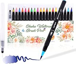Ohuhu Watercolor Brush Markers Pen Set of 24, Water Based Drawing Marker Brushes W/A Water Coloring Brush, Water Soluble f...