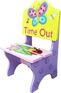 Fantasy Fields - Magic Garden Thematic Kids Time Out Chair   Imagination Inspiring Hand Painted Details   Non-Toxic, Lead Free Water-based Paint