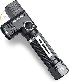Flashlight, NICRON N7 600 Lumens Tactical Flashlight, 90 Degree Mini Flashlight Ip65 Waterproof Led Flashlight 4 Modes- Be...