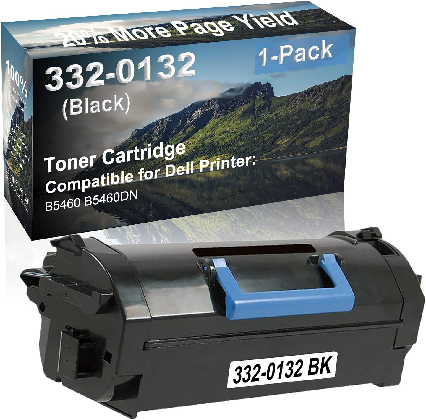 1-Pack Compatible High Yield B5460, B5460DN Laser Printer Toner Cartridge Replacement for Dell 332-0132 Printer Cartridge (Black)