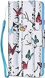 Kompatibel f�r Sony Xperia XA2 H�lle Ledertasche Flip Case,QPOLLY Premium PU Leder Gemalt Muster Brieftasche Klapp Schutzh�lle im Bookstyle mit Kredit Karten Fach Magnet Handy H�lle Tasche,Baum