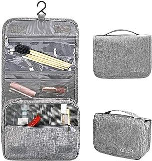 مجموعة حقيبة أدوات العناية الشخصية للسفر مع خطاف تعليق للرجال والنساء، 3 ألوان