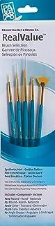 Princeton Art & Brush Syntetyczne złoto Taklon Real Value zestaw pędzli