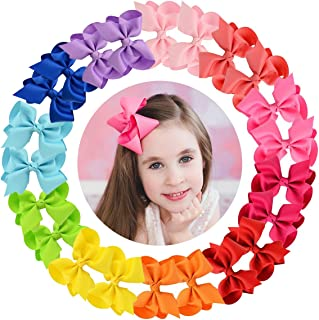 "Hair Bows Accessories Girls toddlers 4"" Grosgrain Ribbon Bow Clips For Baby Girls Alligator Clips For Pigtails Ponytails H..."