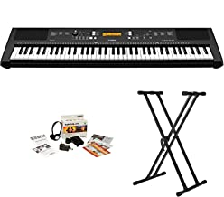 Yamaha PSREW300 76-key Portable Keyboard With Knox Stand and Power Supply