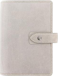 """$94 » Filofax Malden Leather Organizer Agenda Calendar with DiLoro Ballpoint Pen (Personal Paper Size 6.73"""" x 3.74"""", Stone 2021)"""