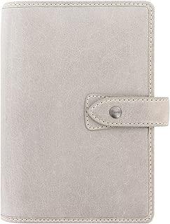 Filofax Malden Leather Organizer Agenda Planner Ring Binder 2020 Calendar with DiLoro Jot Pad Refills (Stone 2020, Personal Paper Size 6.73