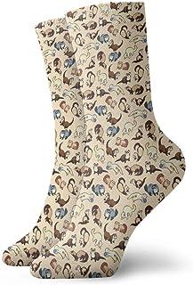QUEMIN, Dibujos animados lindo hurón adultos calcetines cortos de algodón calcetines geniales atléticos 30cm calcetines tobillo calcetines deportivos casuales calcetines de algodón