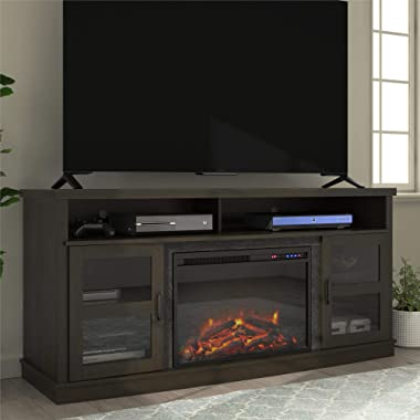 """Ameriwood Home Ayden Park Fireplace TV Stand up to 65"""" in Espresso"""