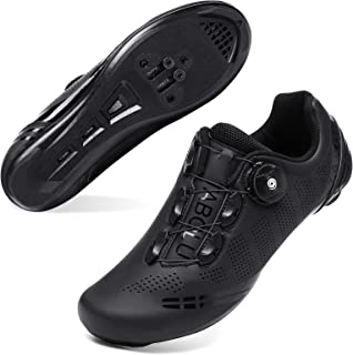 JOINFREE Men Women Cycling Shoes Road SPD Bike Cycling Shoes Spin Shoestring Compatible with Peloton/Look Delta Pedals wit...
