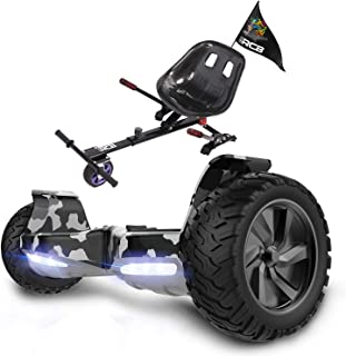 RCB Hoverboard 8,5 cala z odpornym na wstrząsy Hoverkart All Terrain Electric Self Balanced Scooter SUV z diodami LED Blue...
