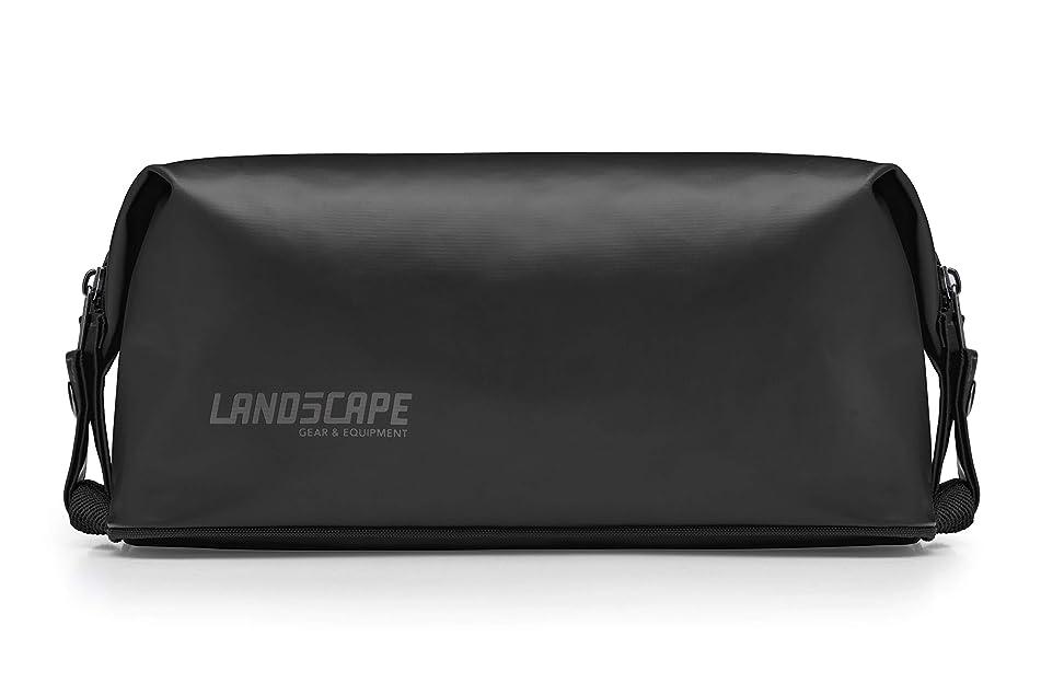 LAND5CAPE Waterproof Tarpaulin Dopp Kit, Toiletry Bag Organizer for Travel, Gym, Yoga, Camping, Hiking, Outdoors - Men, Women, Unisex (Black)
