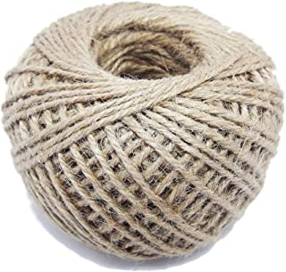 Natural Jute Twine Hemp Cord Ball 80m 3Ply 2mm Rustic Gift Tags Label Hang Arts Crafts Wrap Festive Decoration Ornament DIY Gardening Applications Twisted Rope Brown String Cord Events Party Supplies