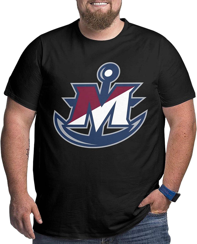 Suny Maritime College Logo Men's Shirt Casual Short Sleeve Plus Size Cotton T-Shirt
