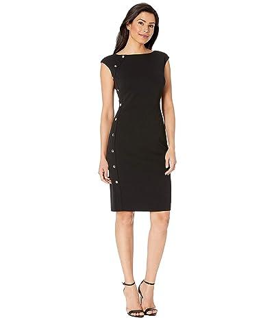 LAUREN Ralph Lauren Clark w/ Trim Dress (Black) Women