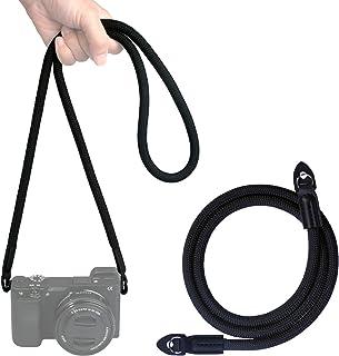 VKO カメラネックストラップ クライミングロープ製ショルダーストラップ 一眼レフ/ミラーレス/コンパクトカメラ用 FUJIFILMなど用 X-T4 X-T30 X-T20 X-T3 X-T2 X-Pro2 X-E3 X-E2 X30 XQ2 ...