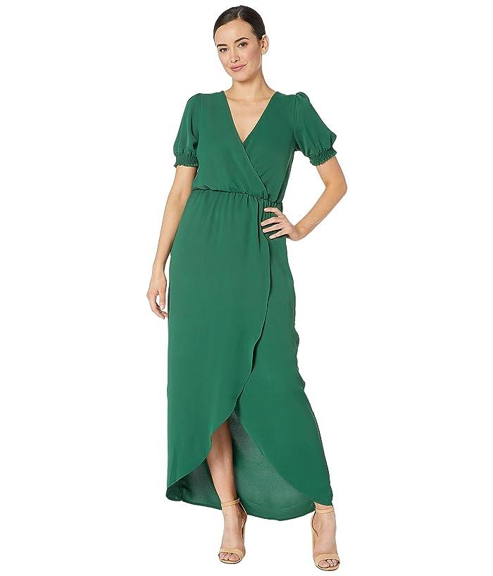 6896301cf17b1 American Rose Eden Short Sleeve Faux Wrap Dress at Zappos.com