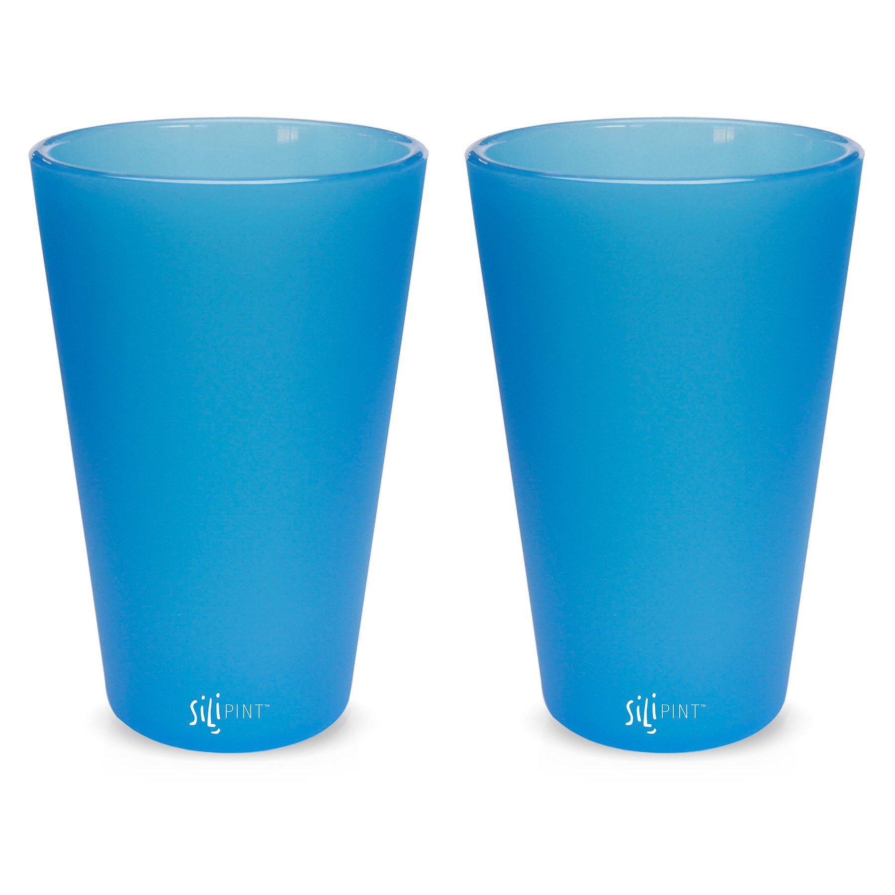 2-Pack, Mountain Marble Silipint Silicone Pint Glass Set Unbreakable Silicone Cup Drinkware Patented Shatter-proof