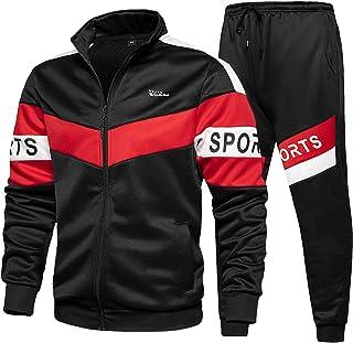 Men 2 Piece Tracksuit Set Full Zip Athletic Sweatsuit Outfit Jogger Sport Set